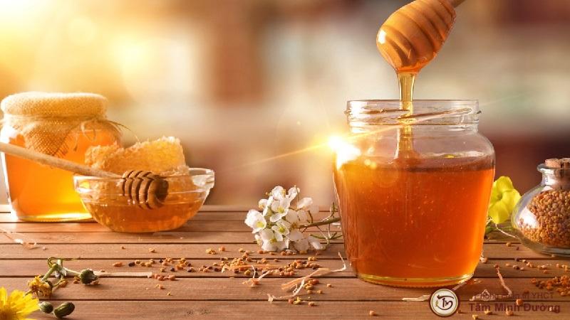 chữa ho có đờm bằng mật ong