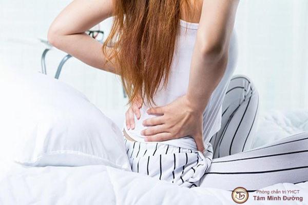 đau lưng sau khi hút thai