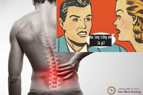 đau lưng trong tiếng anh